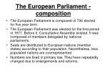 the european parliament composition