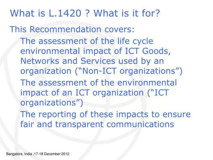 What is L.1420 ? What is it for?