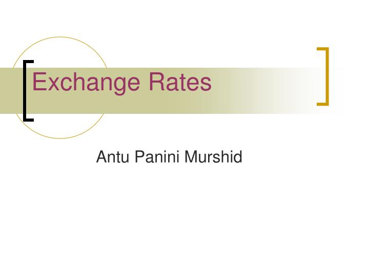 exchange rates n.