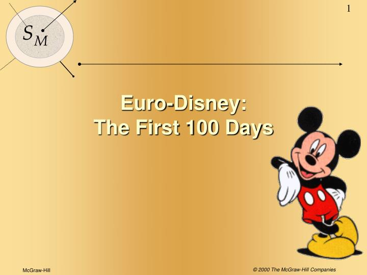 euro disney the first 100 days n.