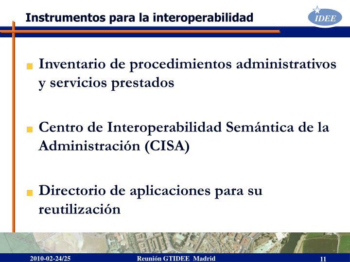 Instrumentos para la interoperabilidad