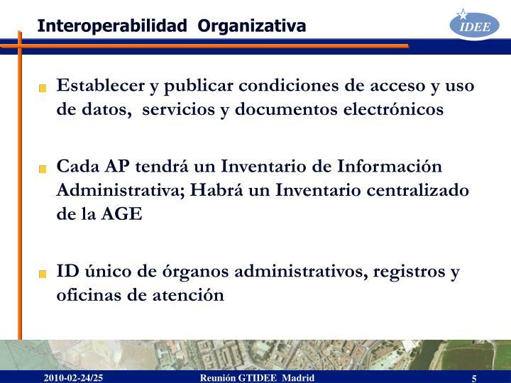 Interoperabilidad  Organizativa