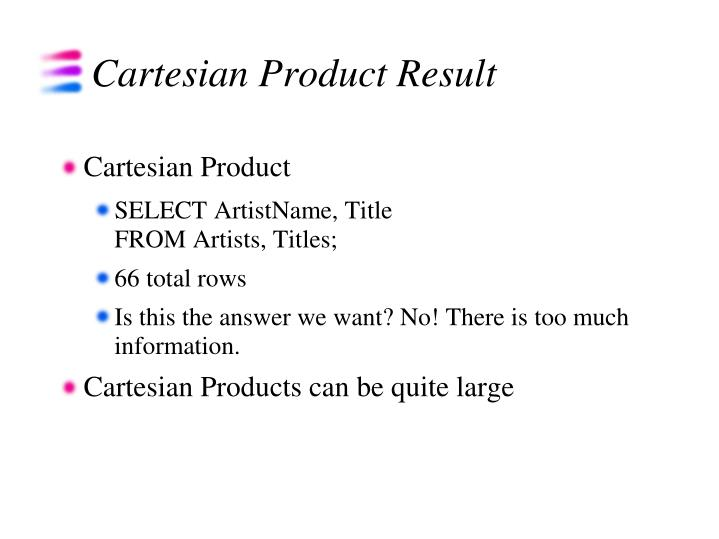 Cartesian Product Result