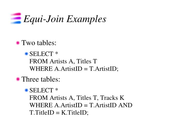 Equi-Join Examples