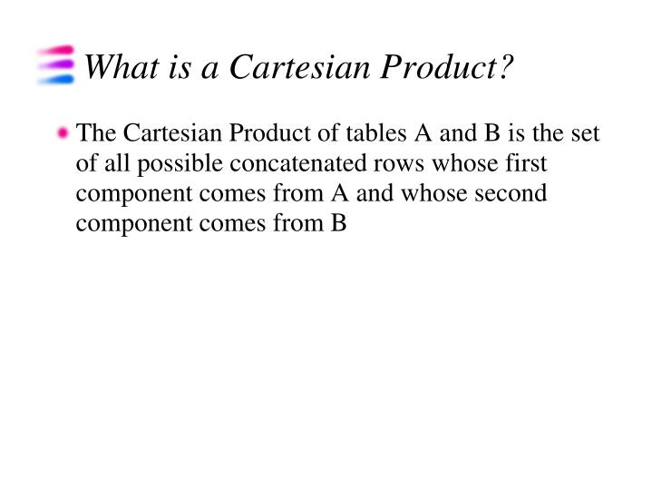 What is a Cartesian Product?