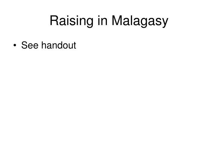 Raising in Malagasy