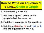 how to write an equation of a line given a graph