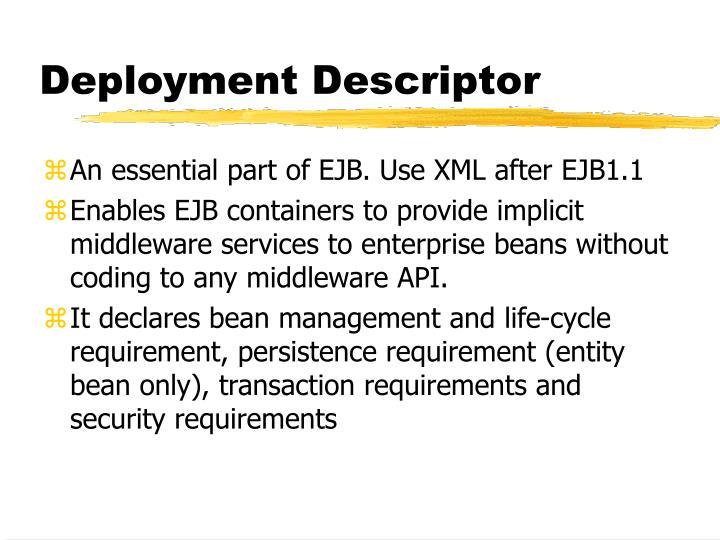 Deployment Descriptor