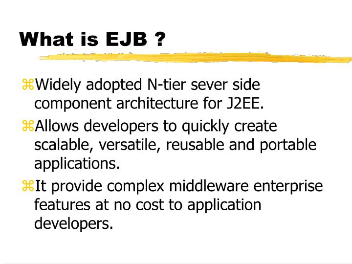 What is ejb