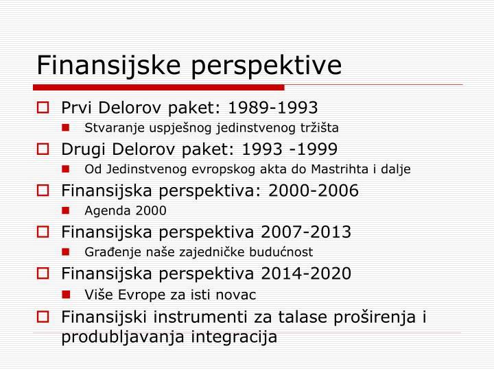 Finansijske perspektive
