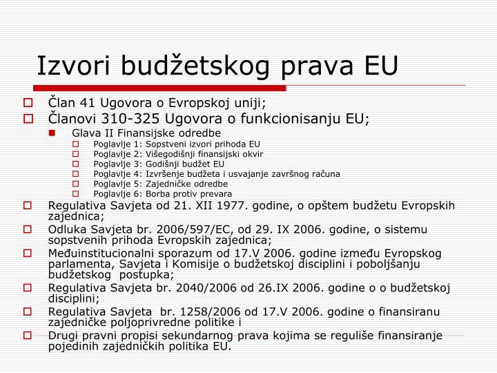 Izvori budžetskog prava EU