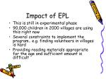 impact of epl