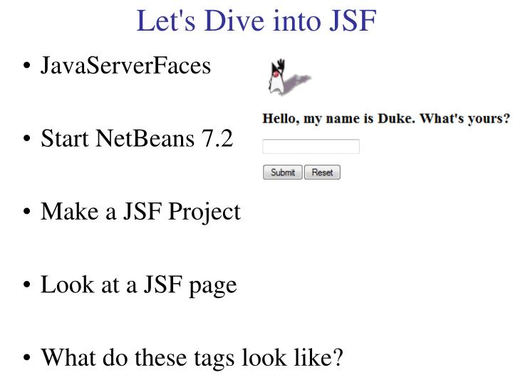 Let's Dive into JSF