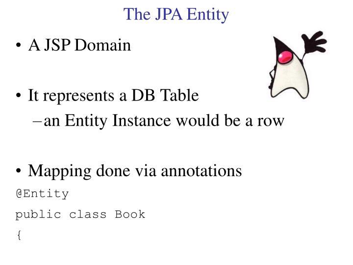 The JPA Entity