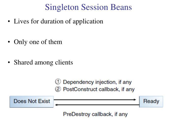 Singleton Session Beans