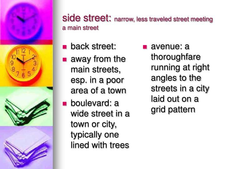 back street: