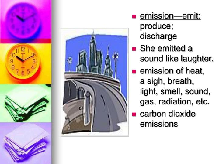 emission—emit: