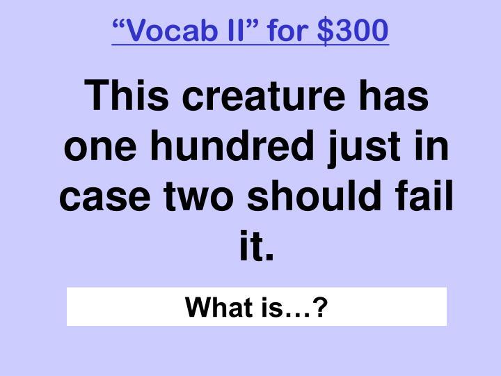 """""""Vocab II"""" for $300"""