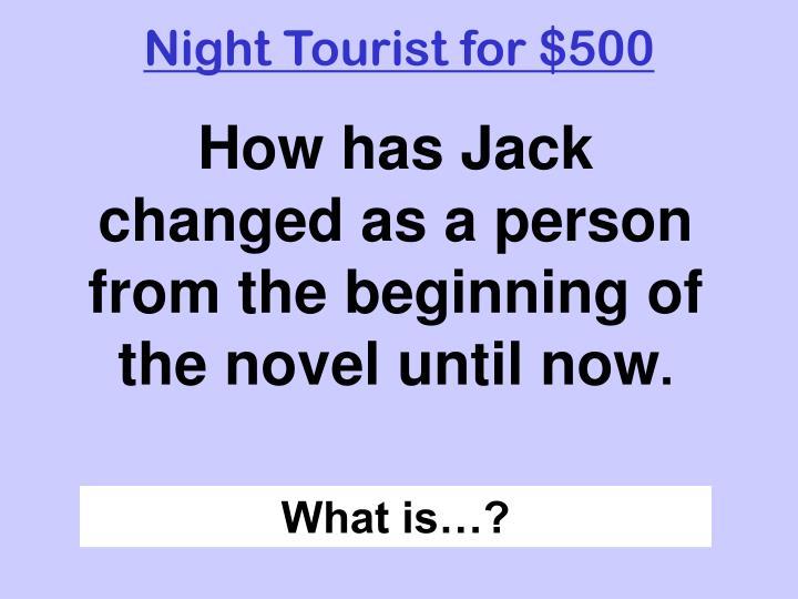 Night Tourist for $500