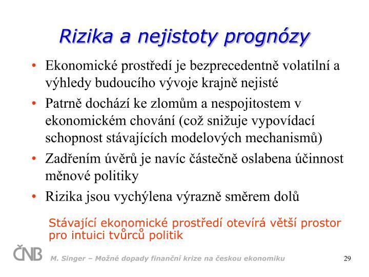 Rizika a nejistoty prognózy