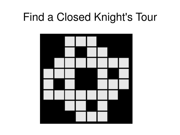 Find a Closed Knight's Tour