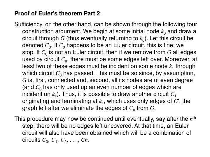 Proof of Euler's theorem Part 2