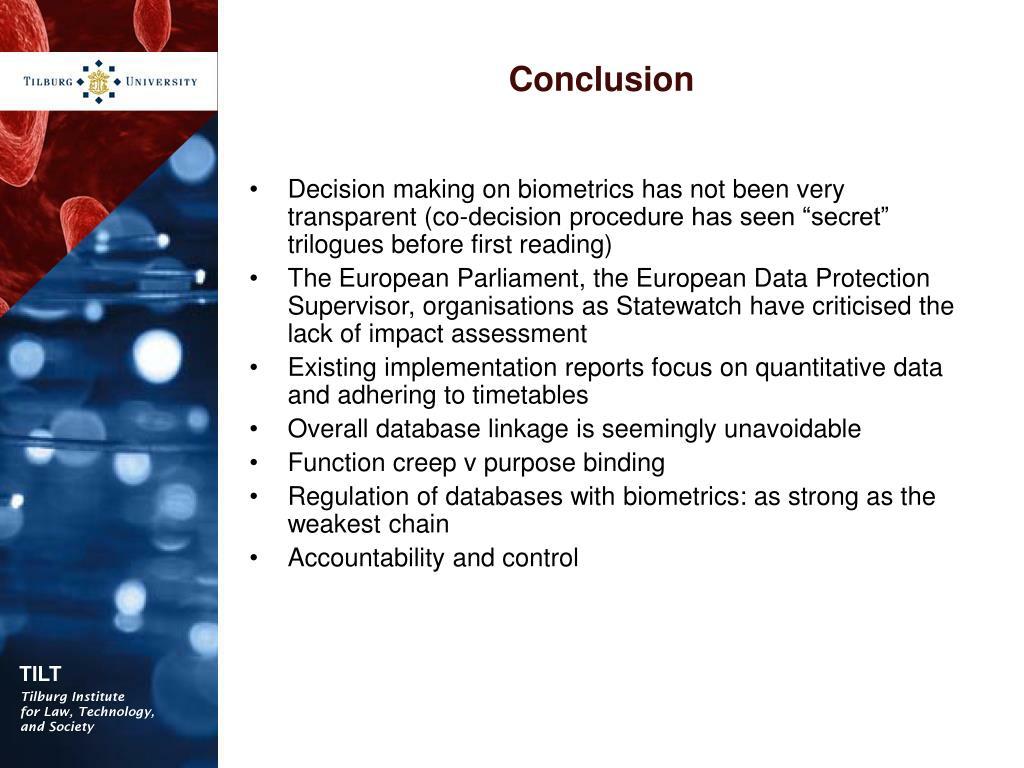 PPT - An Assessment Framework for biometrics in the EU PowerPoint