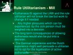 rule utilitarianism mill