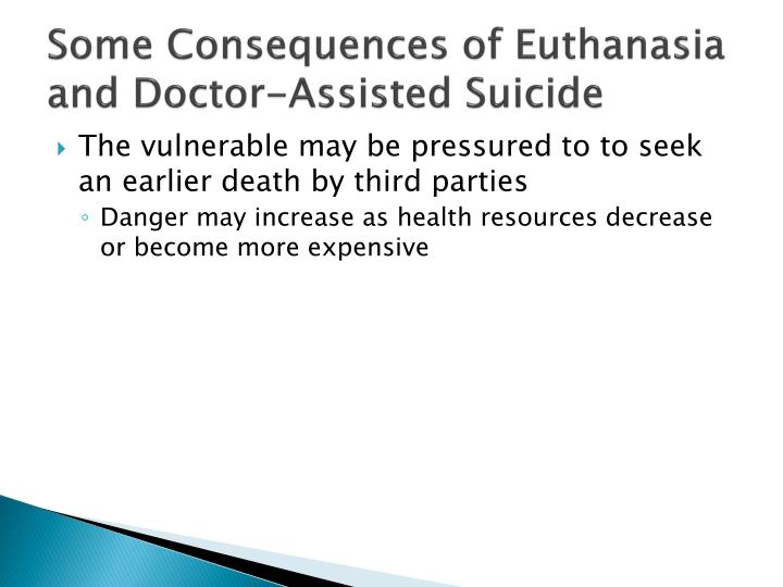 Some Consequences of Euthanasia and Doctor-Assisted Suicide