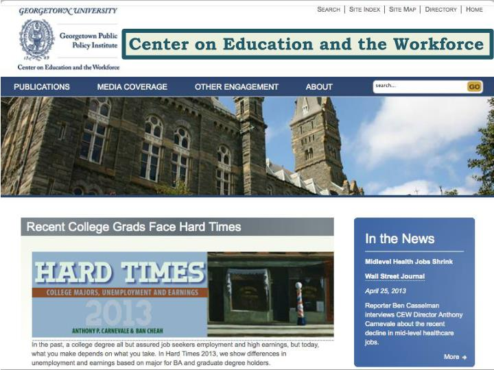 Center on Education and the Workforce