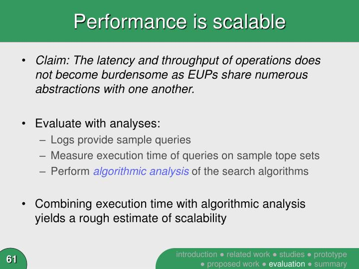 Performance is scalable