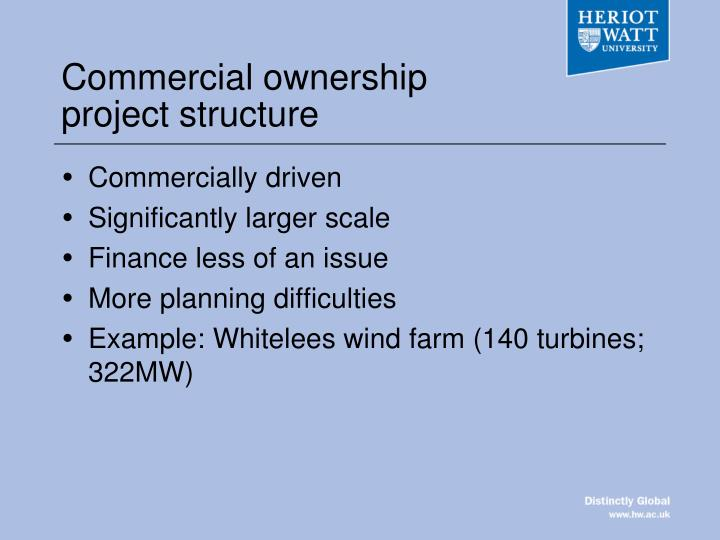 Commercial ownership project structure