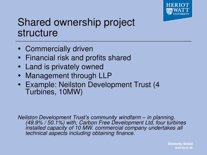 Shared ownership project structure