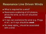 resonance line driven winds