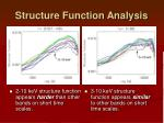 structure function analysis