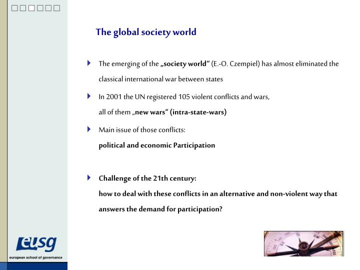 The global society world