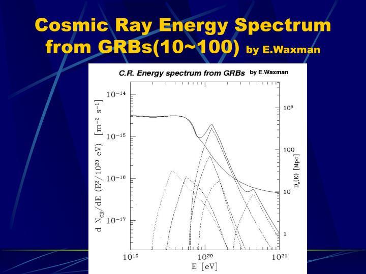 Cosmic Ray Energy Spectrum