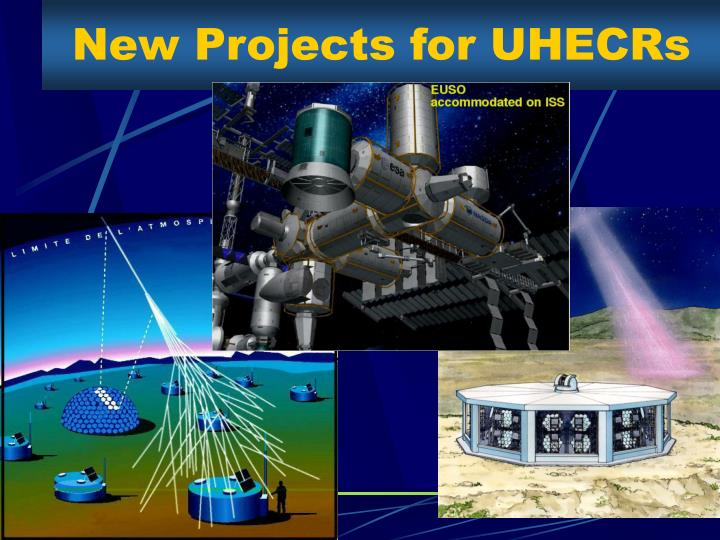New Projects for UHECRs