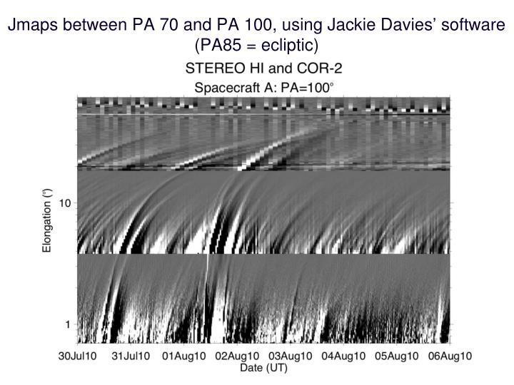 Jmaps between pa 70 and pa 100 using jackie davies software pa85 ecliptic