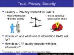trust privacy security