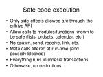 safe code execution