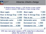 adverse climate change