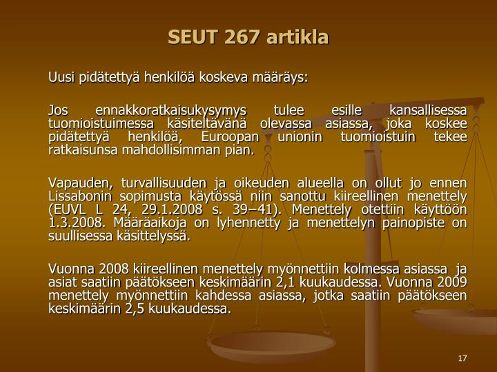 SEUT 267 artikla
