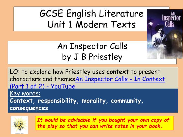 explore how the theme of power is presented in an inspector calls essay Inspector calls essay watch how does priestley present ideas about responsibility in an inspector calls is this a good essay for the theme on responsibility.