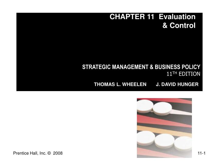 CHAPTER 11  Evaluation & Control