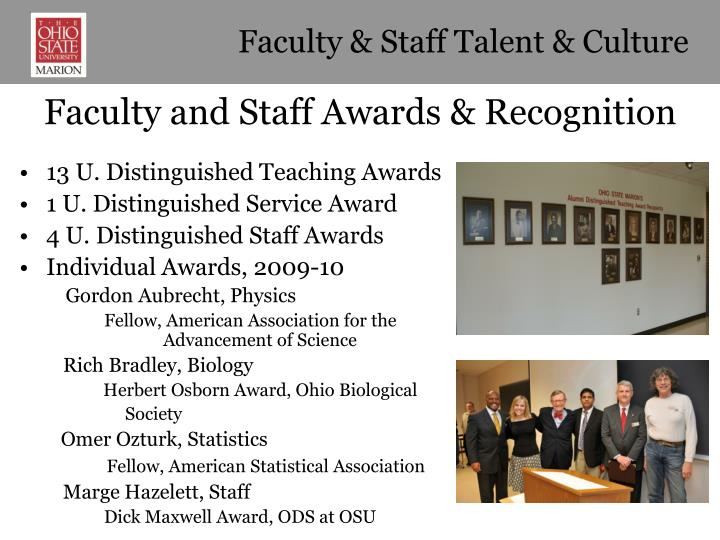 Faculty & Staff Talent & Culture