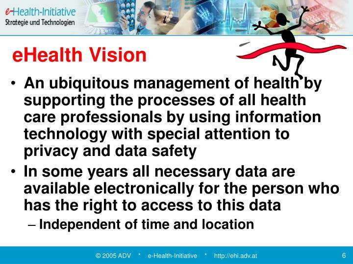 eHealth Vision