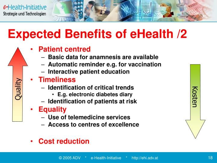 Expected Benefits of eHealth /2