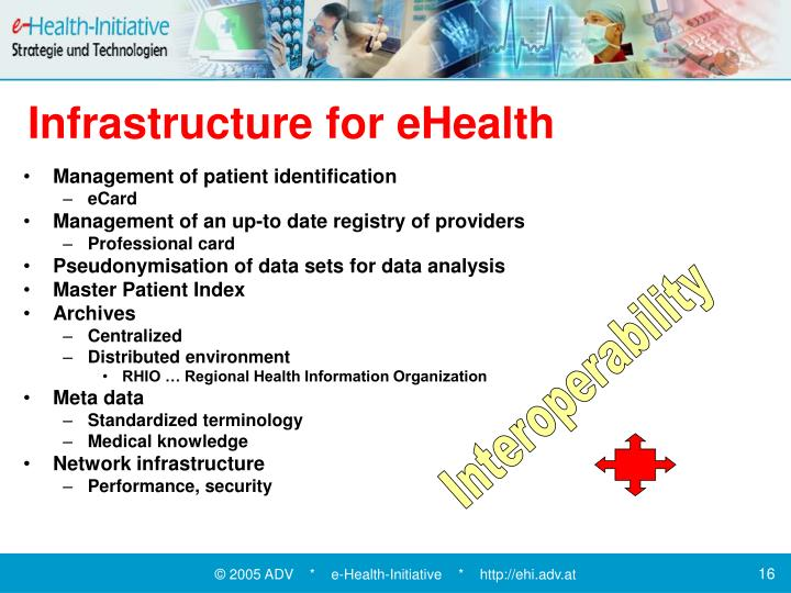 Infrastructure for eHealth