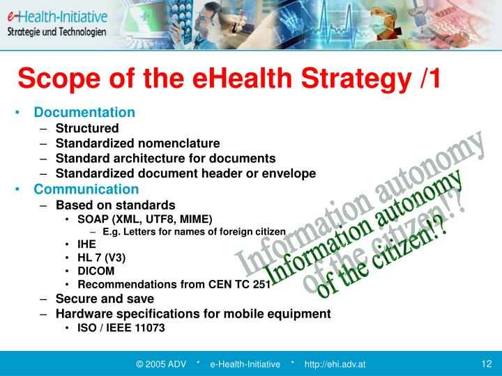 Scope of the eHealth Strategy /1